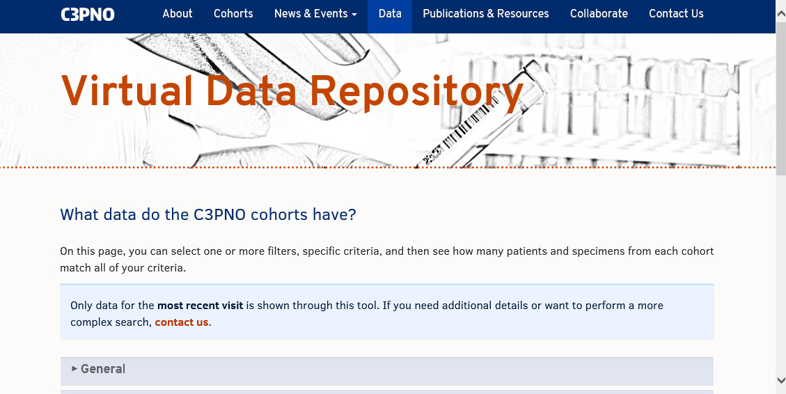 C3PNO Virtual Data Repository Search Tool Is Available For Use